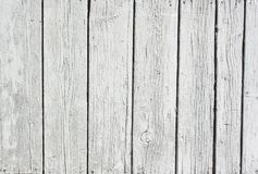 Fundo da madeira pintada branca resistida Fotos de Stock