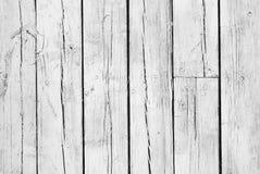 Fundo da madeira pintada branca resistida Imagens de Stock Royalty Free
