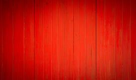 Fundo da madeira velha vermelha Fotografia de Stock Royalty Free