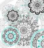 Fundo da mandala de Zentangle do vetor Fotos de Stock
