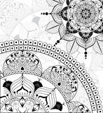 Fundo da mandala de Zentangle do vetor Fotografia de Stock