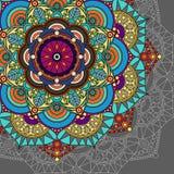 Fundo da mandala, papel de parede, cartão colorido Imagem de Stock