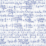 Fundo da matemática ilustração stock