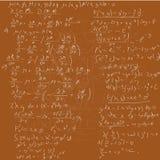 Fundo da matemática Fotografia de Stock