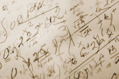 Fundo da matemática Imagens de Stock