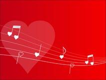 Fundo da melodia do amor Fotografia de Stock Royalty Free