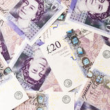 Fundo da moeda da libra Fotos de Stock Royalty Free