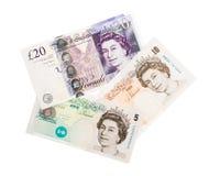Fundo da moeda da libra Imagens de Stock Royalty Free
