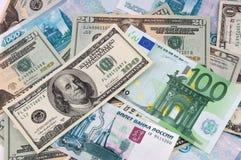 Fundo da moeda de papel Fotos de Stock Royalty Free