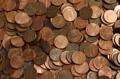 Fundo da moeda de um centavo Fotos de Stock Royalty Free