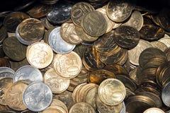 Fundo da moeda de um centavo do russo Fotos de Stock