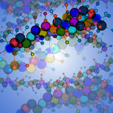 Fundo da molécula DNA.Abstract Imagem de Stock