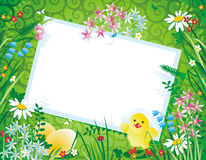Fundo da mola ou do Easter Fotos de Stock Royalty Free