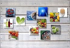 Fundo da montagem do alimento Foto de Stock Royalty Free