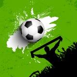 Fundo da multidão do futebol/futebol do Grunge Fotos de Stock