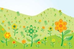 Fundo da natureza com flores ilustração do vetor