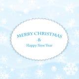 Fundo da neve do ano novo e do Natal Imagem de Stock