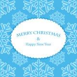 Fundo da neve do ano novo e do Natal Fotografia de Stock Royalty Free