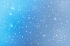 Fundo da neve do feriado de inverno Fotografia de Stock