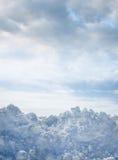 Fundo da neve do inverno imagem de stock
