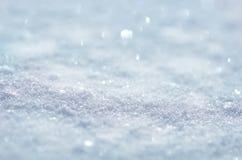 Fundo da neve do inverno com espaço livre para sua decoração Fundo bonito do inverno imagem de stock royalty free