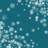 Fundo da neve do Natal com os flocos de neve dispersados que caem no inverno ilustração do vetor