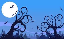 Fundo da noite de Dia das Bruxas ilustração do vetor