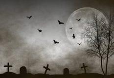 Fundo da noite de Halloween Foto de Stock