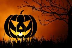 Fundo da noite de Halloween Fotos de Stock Royalty Free