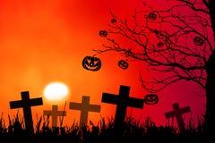 Fundo da noite de Halloween Imagens de Stock Royalty Free