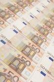 fundo da nota de banco do euro 50 Imagem de Stock