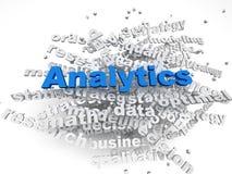 fundo da nuvem da palavra do conceito de Analitics do imagen 3d Imagem de Stock Royalty Free