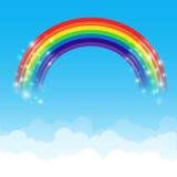 Fundo 002 da nuvem e do céu do arco-íris Imagens de Stock