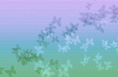 Fundo da onda azul e verde da luz - com borboleta Fotografia de Stock Royalty Free