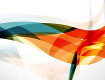 Fundo da onda, composição geométrica da cor Imagens de Stock