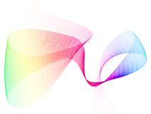 Fundo da onda do arco-íris Imagens de Stock
