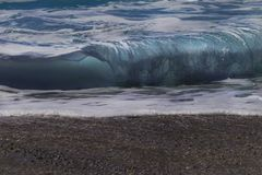 Fundo da onda do mar Vista das ondas da praia foto de stock royalty free