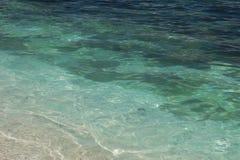 Fundo da onda do verão da superfície do mar das caraíbas Imagens de Stock Royalty Free
