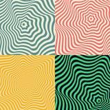 Fundo da onda Grupo de testes padrões abstratos coloridos Fotografia de Stock