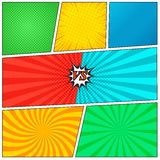 Fundo da página da banda desenhada Fotografia de Stock