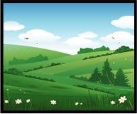 Fundo da paisagem da natureza ilustração do vetor
