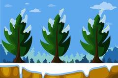 Fundo da paisagem do inverno Fotografia de Stock