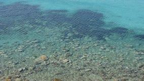 Fundo da paisagem do mar Opinião do mar em Sunny Day Superfície da água do mar com ondinha e ondas vídeos de arquivo