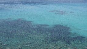 Fundo da paisagem do mar Vento sobre ondas Opinião do mar em Sunny Day Superfície da água do mar com ondas vídeos de arquivo