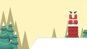Fundo da paisagem do Natal com metragem de Santa Claus ilustração stock