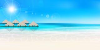 Fundo da paisagem do verão do mar Imagem de Stock Royalty Free