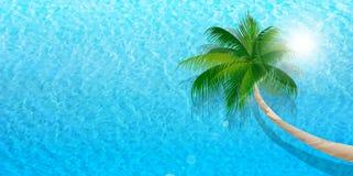 Fundo da paisagem do verão do mar Fotografia de Stock Royalty Free