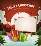 Fundo da paisagem dos feriados do Natal Fotografia de Stock
