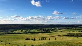 Fundo da paisagem e do céu azul Imagens de Stock Royalty Free