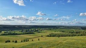 Fundo da paisagem e do céu azul Fotos de Stock Royalty Free